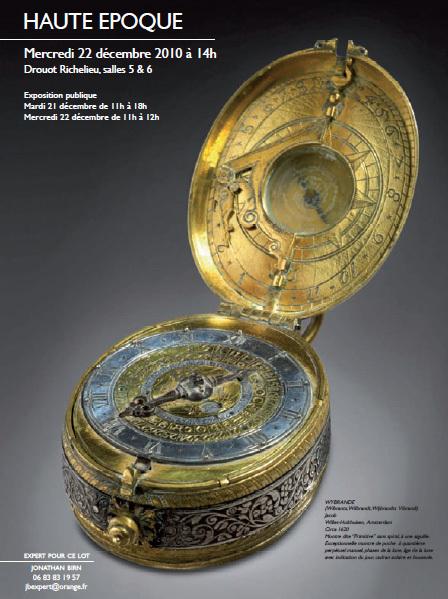 Wybrande : une montre primitive en vente à Drouot le 15 décembre prochain