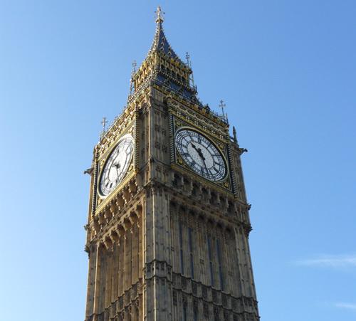 Big Ben à Londres... à l'heure anglais !