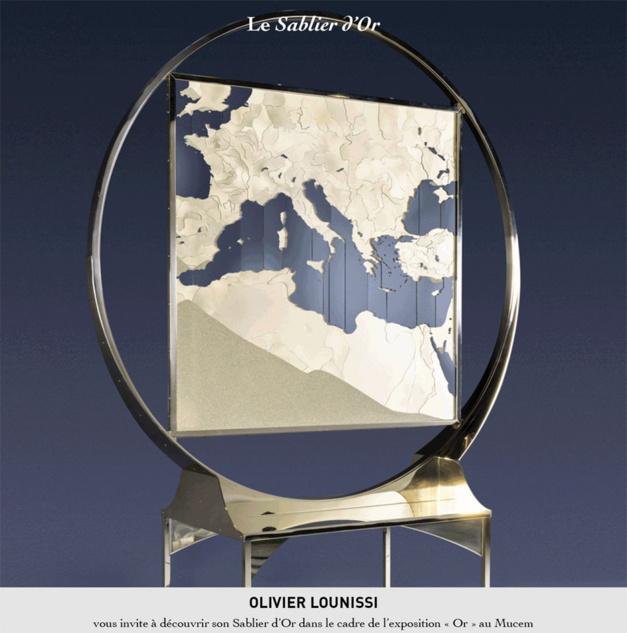 Art : le sablier d'or d'Olivier Lounissi