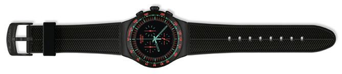 Swatch Irony THE Chrono : le noir apporte une touche d'élégance et de discrétion à ce modèle sportif