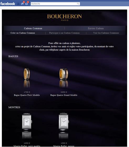 Boucheron lance une application « Cadeau Commun » sur Facebook