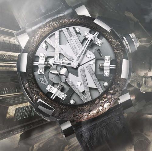 Romain Jérôme Steampunk : une montre sans cadran