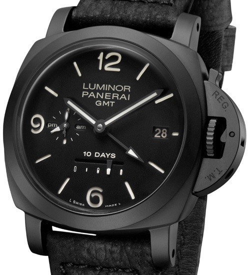 Officine Panerai Luminor 1950 10 Days GMT Ceramica : black beauty