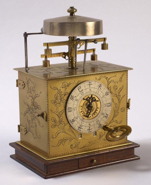 Horloge portative japonaise à heures inégales, Début du XIXe siècle, Musée des Arts et Métiers-Cnam, © Musée des Arts et Métiers-Cnam/photo Pierre Ballif