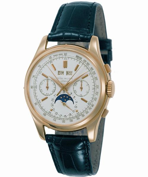 Chronographe à rattrapante et quantième perpétuel référence 2571 de 1955
