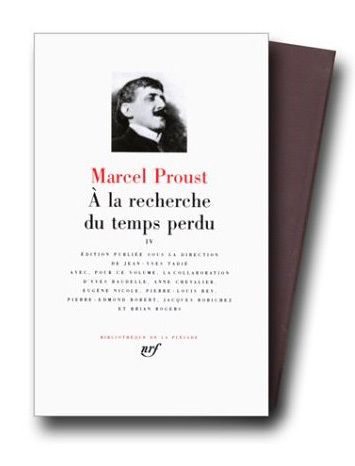 A la recherche du temps perdu, collection La Pléiade, copyright Gallimard