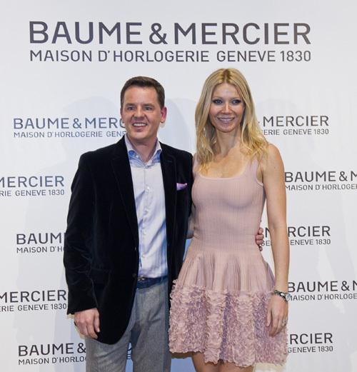 Alain Zimmerman, patron de Baume et Mercier et Gwyneth Paltrow