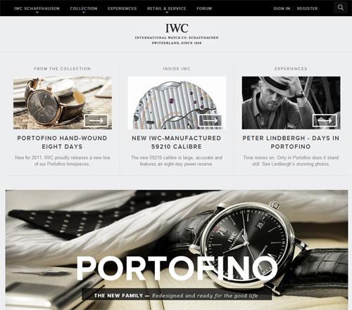 Un nouveau site web pour IWC