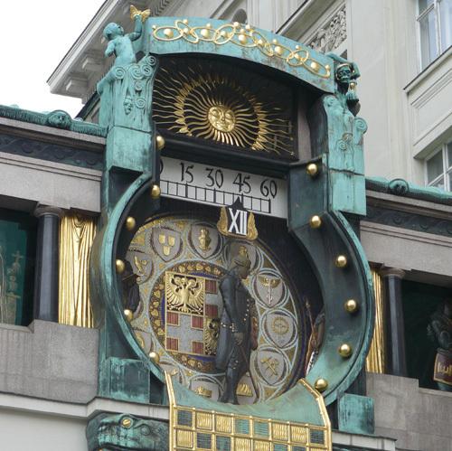 Horloge Judenstil de l'Ankeruhr (Vienne)