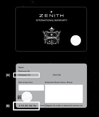 Code à bulles pour garantir l'authenticité des montres Zenith