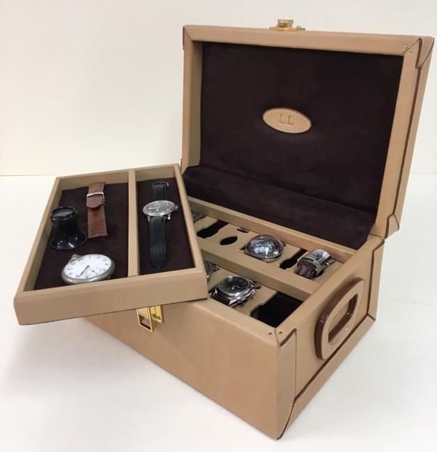 Coffret à montres en cuir Ephtée