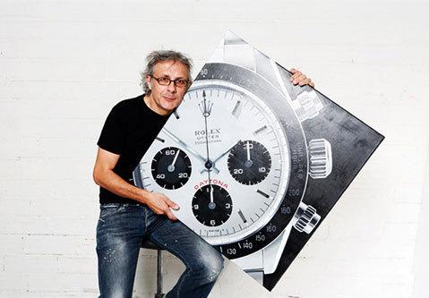 Didier Vallé, le peintre hyperréaliste de montres expose chez Mister-Chono