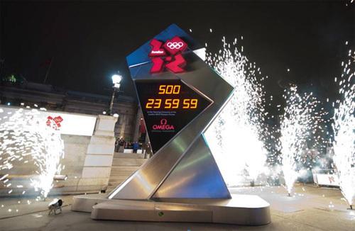 Londres 2012 : Omega lance l'horloge du compte à rebours marquant le cap des 500 jours avant les J.O.
