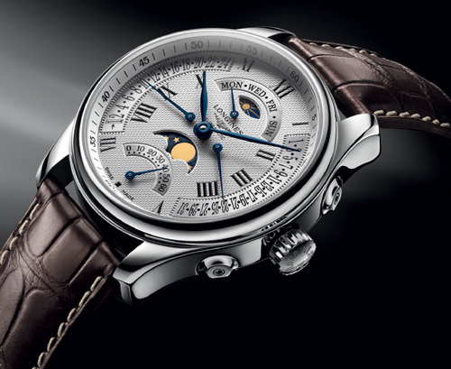 The Longines Master Collection Retrograde  Moon Phases : le soleil a rendez-vous avec la lune