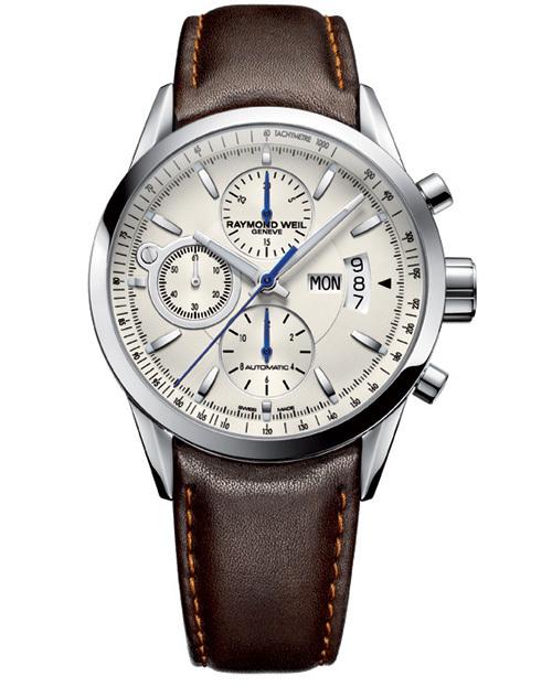 Raymond Weil Freelancer : un chronographe au cadran opalin
