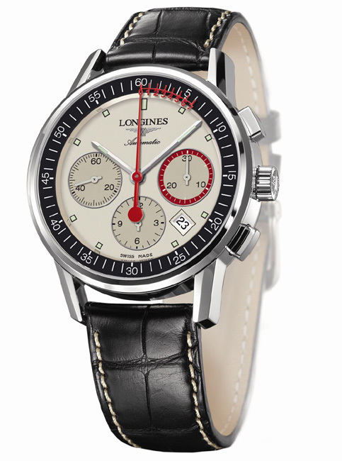 The Longines Column-Wheel Chronograph Record : un chrono doté d'une trotteuse avec échelle vernier