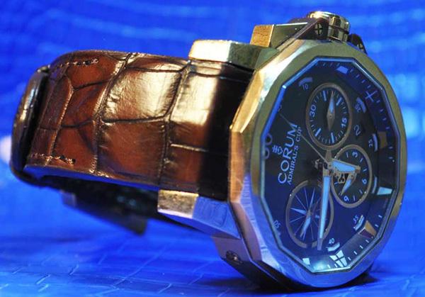 Bracelet alligator sur insert gainé pour une montre Corum Admiral's Cup