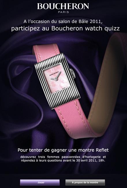 Boucheron watch quizz : une montre Reflet à gagner sur Facebook