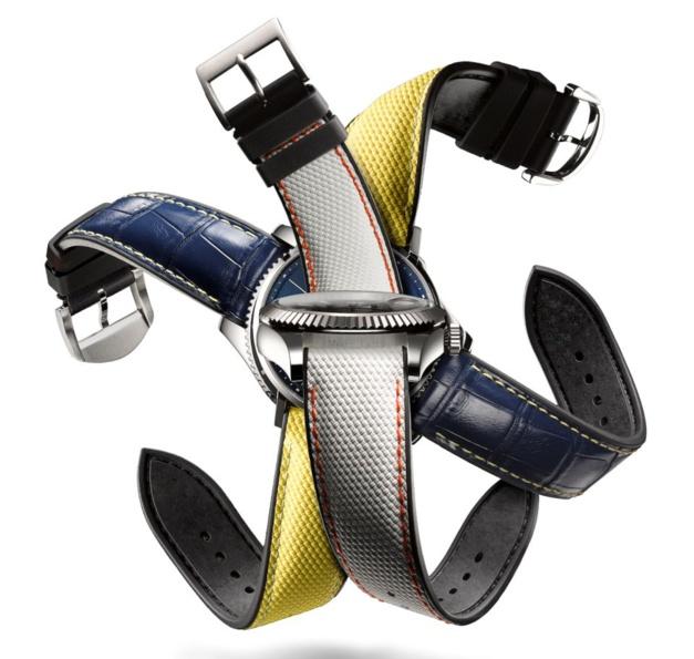 I-Unique bracelet-montre caoutchouc