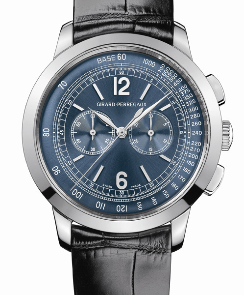 Girard-Perregaux chronographe 1966 220ème anniversaire : l'heure bleue