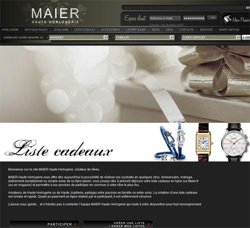 Déposer votre liste cadeaux chez Maier Haute Horlogerie et Maier Vintage