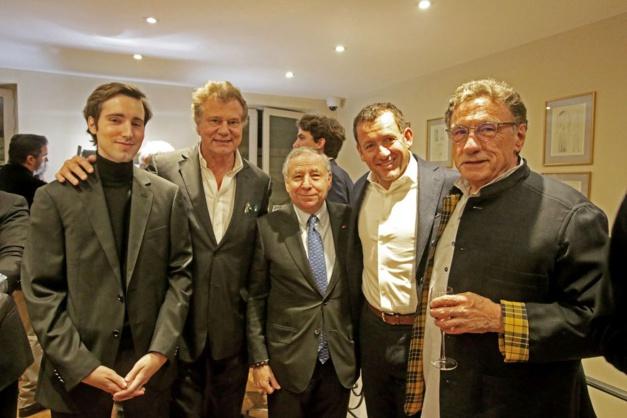 François-Paul Journe, avec à sa droite, Jean Todt et Dany Boon