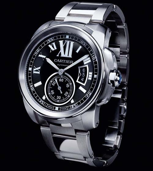Calibre Cartier sur bracelet acier