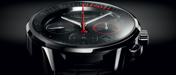 The Longines Column-Wheel Chronograph Record : trotteuse avec échelle vernier