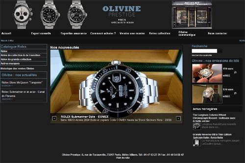 Olivine Prestige : nouveau site Internet pour ce spécialiste de la Rolex vintage
