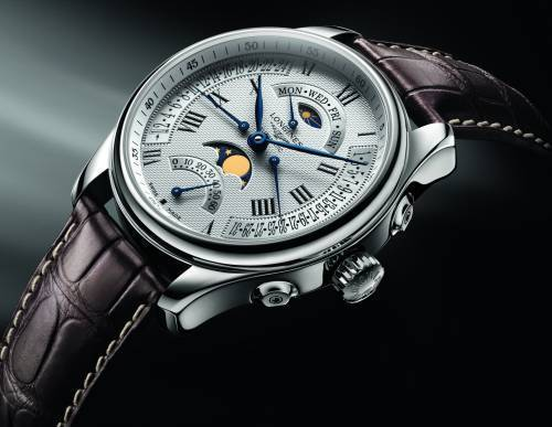 meilleur site web c0e1a 376a6 The Longines Master Collection Retrograde Moon Phases : le ...