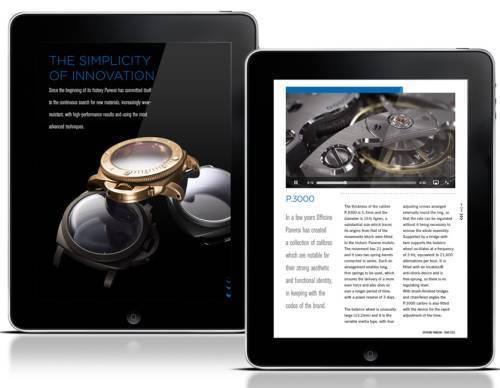 Officine Panerai lance son catalogue en format iPad