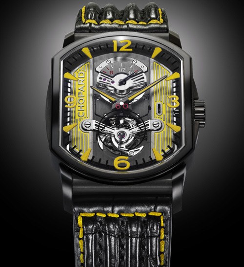 Chopard L.U.C Engine One Tourbillon en titane DLC Only Watch 2011 : l'univers automobile comme inspiration