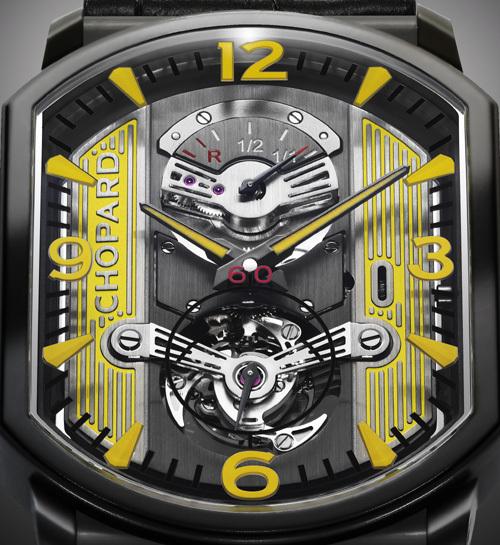Chopard L.U.C Engine One Tourbillon en titane DLC Only Watch 2011 : l'univers automobile comme inspiration