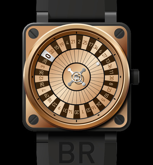 Bell & Ross BR01 Casino Pink Gold Only Watch 2011