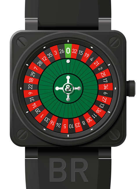 Bell & Ross BR01 Casino Pink Gold Only Watch 2011 : faites vos jeux, rien ne va plus !