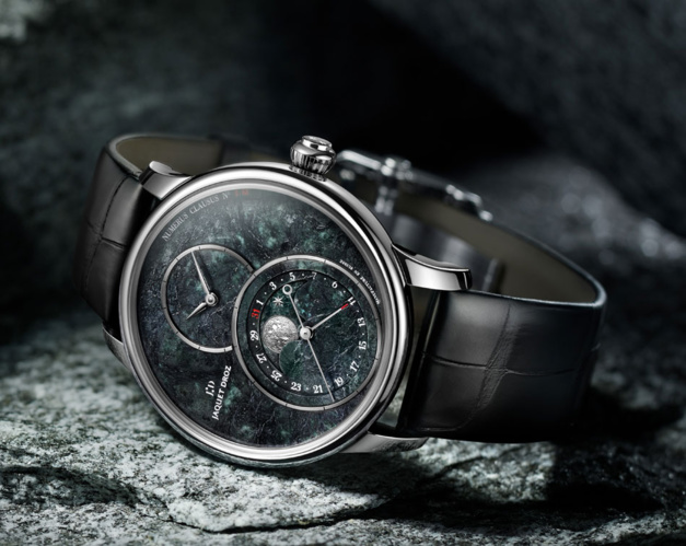Jaquet Droz Grande Seconde Moon Serpentinite