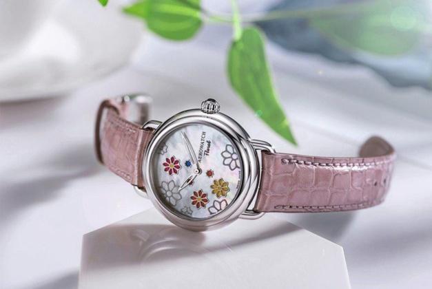 Aerowatch 1942 Floral : montre féminine et printanière
