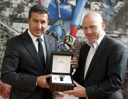 Antonio Calce et Didier Cuche