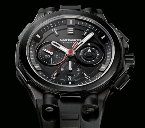Concord C2 All-Matte Black Chronograph