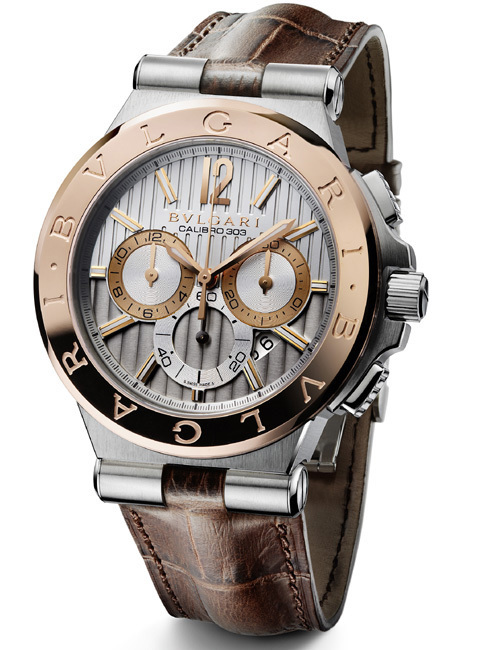 Bulgari Diagono Calibro 303 Bulgari or et acier