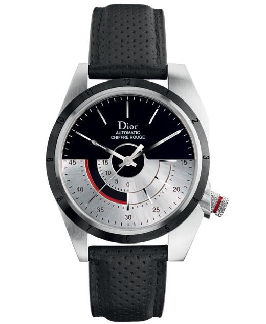 Dior Chiffre Rouge M01 39 mm bracelet cuir perforé