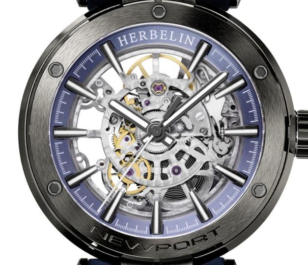 Michel Herbelin Newport Squelette : belle sportive horlogère française
