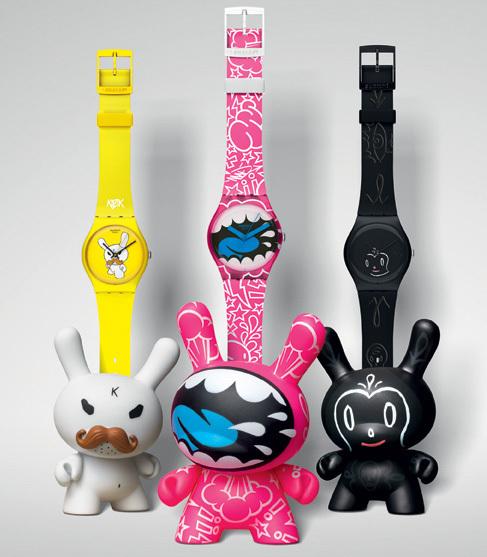Swatch Kidrobot : une collection ludique et arty où chaque modèle est accompagné de son Dunny