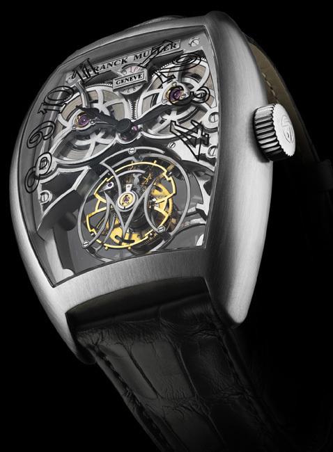 Franck Muller Giga Tourbillon : le tourbillon occupe la moitié de la montre