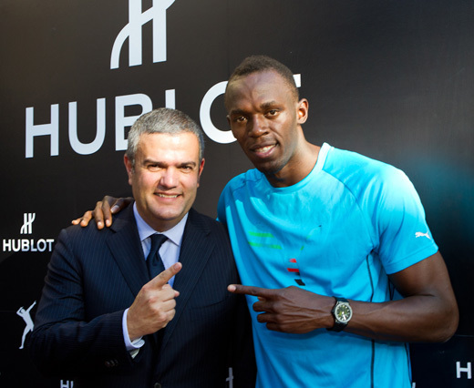 Ricardo Guadalupe et Usain Bolt à Beverly Hills