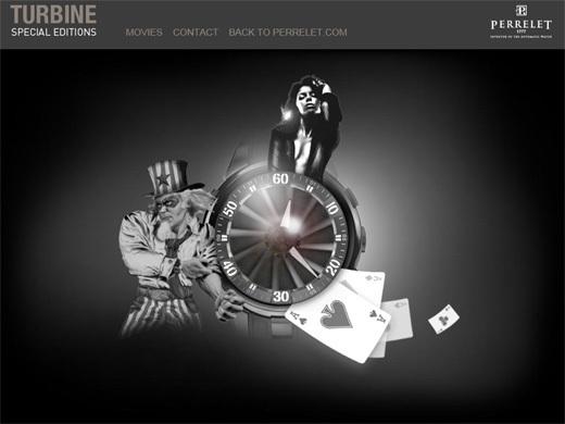 Turbineperrelet.com : mini-site web pour les Editions Spéciales Turbine de Perrelet