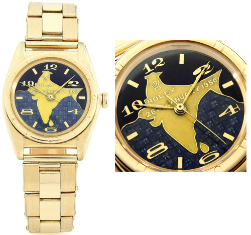 Rolex en or de Rajendra Prasad
