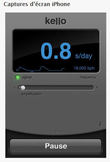 Kello : l'application iPhone qui mesure la précision des montres mécaniques