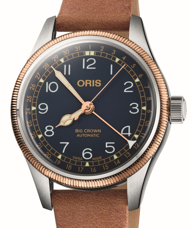 Oris Big Crown Pointer Date acier et bronze 36 mm