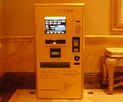 Le distributeur d'or de l'Emirates Palace